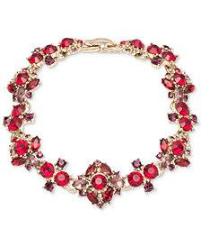 Marchesa Gold-Tone Stone & Crystal Cluster Link Bracelet