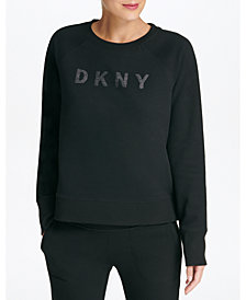 DKNY Sport Sparkle Logo Fleece Sweatshirt