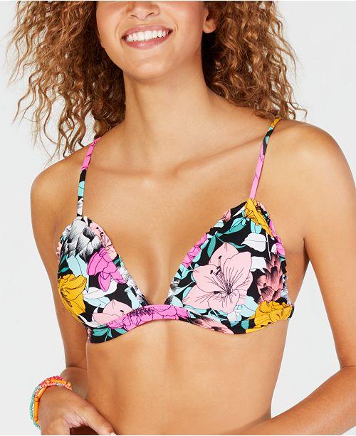 120cc4b78fc11 ... Hula Honey Juniors  Flowervescent Printed Ruffle Molded Push-Up Bikini  Top