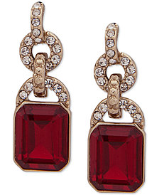 Lauren Ralph Lauren Pavé & Stone Drop Earrings
