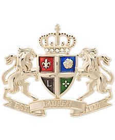 Lauren Ralph Lauren Gold-Tone Crest Pin