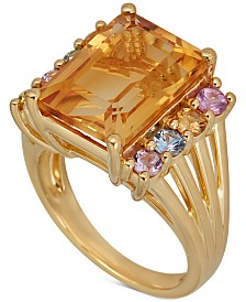 Multi-Gemstone Ring (7-5/8 ct. t.w.) in 14k Gold-Plated Sterling Silver