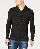 American Rag Mens Jacquard Shawl-Collar Sweater Created for Macys