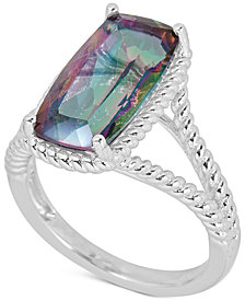 Mystic Quartz Rope Frame Statement Ring (4 ct. t.w) in Sterling Silver (Also in Amethyst & Blue Topaz)