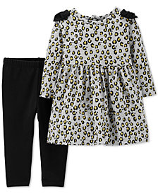 Carter's Baby Girls 2-Pc. Printed Tunic & Leggings Set