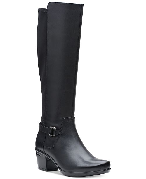 3c3bc6652c86f Clarks Collection Women's Emslie March Wide-Calf Riding Boots ...