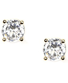 Earrings, Gold-Tone Crystal Stud Earrings
