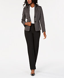 Le Suit Printed Jacket Pantsuit