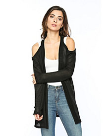 Olivia Pratt Cold Shoulder Open Cardigan