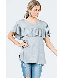 Olivia Pratt Short Sleeve Ruffle Top