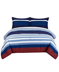 Nautical Stripe King Comforter Set