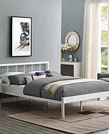 Gwen Queen Metal Bed Frame in White