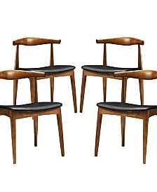 Modway Tracy Dining Chairs Set of 4