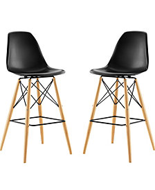 Pyramid Dining Side Bar Stool Set of 2