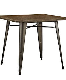 Alacrity 36 Inch Square Wood Dining Table