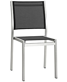 Shore Outdoor Patio Aluminum Side Chair Black