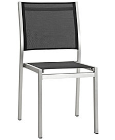 Modway Shore Outdoor Patio Aluminum Side Chair Black