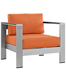 Modway Shore Outdoor Patio Aluminum Armchair Orange