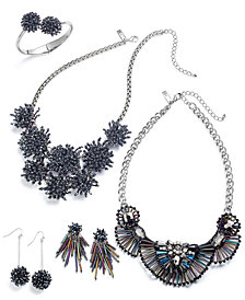 I.N.C. Silver-Tone Crystal & Iridescent Bead Jewelry Separates, Created for Macy's