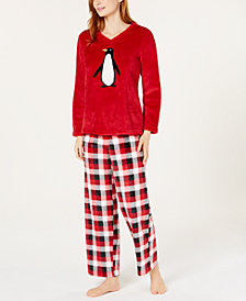 Charter Club Plush Pajama Set, Created for Macy's
