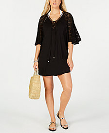 Dotti Paradise Solid Lace-Up Cover-Up