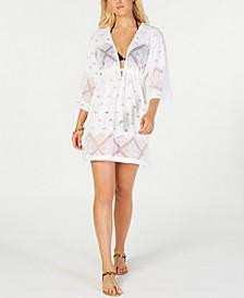 Santorini Tile Kimono Cover-Up