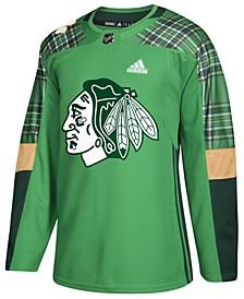 Men's Chicago Blackhawks St. Patrick's Day Authentic Jersey