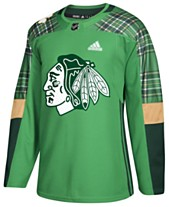 adidas Men s Chicago Blackhawks St. Patrick s Day Authentic Jersey 7e74af38e