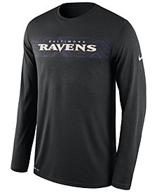 Nike Men's Baltimore Ravens Legend On-Fileld Seismic Long Sleeve T-Shirt