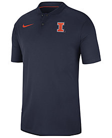 Nike Men's Illinois Fighting Illini Elite Coaches Polo 2018