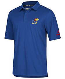 adidas Men's Kansas Jayhawks Team Iconic Coaches Polo