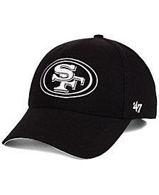 '47 Brand San Francisco 49ers Black & White MVP Strapback Cap