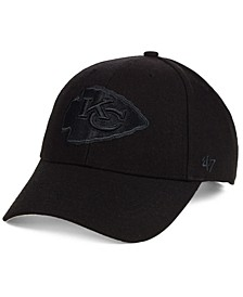 Kansas City Chiefs Black & Black MVP Strapback Cap