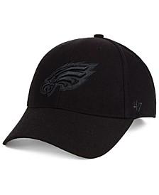 Philadelphia Eagles Black & Black MVP Strapback Cap