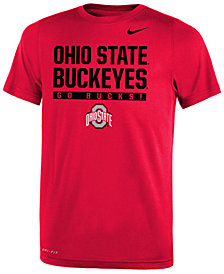 Nike Ohio State Buckeyes Legend T-Shirt, Big Boys (8-20)