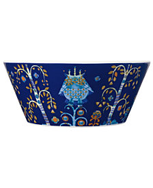 Iittala Dinnerware, Taika Blue Cereal Bowl
