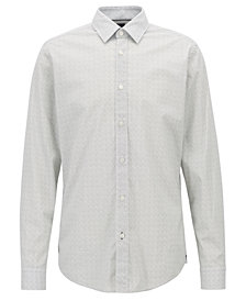 BOSS Men's Regular/Classic-Fit Micro-Dot Shirt