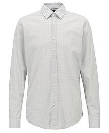 BOSS Men's Regular/Classic-Fit Micro-Dot Shirt