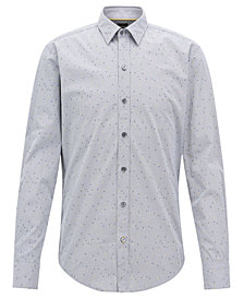 BOSS Men's Slim-Fit Textured Cotton Shirt