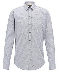 BOSS Men's Slim-Fit Textured Cotton Shirt