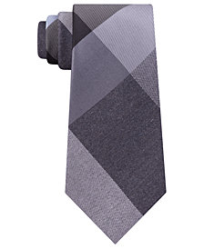 Kenneth Cole Reaction Men's Onyx Plaid Slim Tie