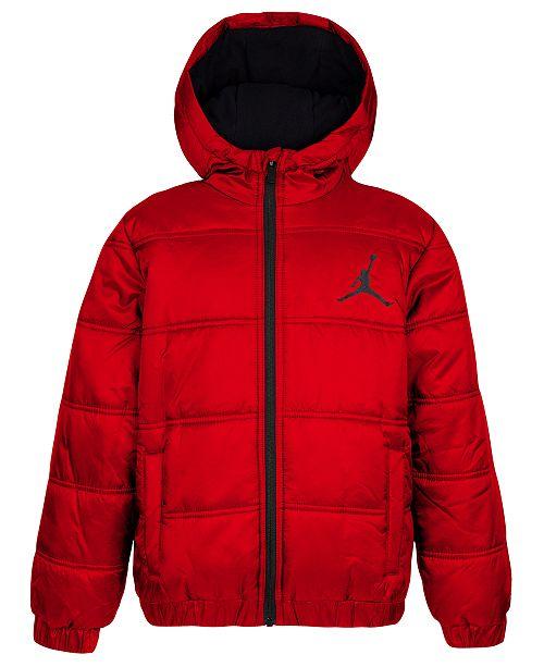 Jordan Little Boys Hooded Puffer Jacket