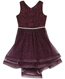 Speechless Little Girls Glitter Lace Dress