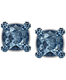 Swarovski Silver-Tone Crystal Stud Earrings