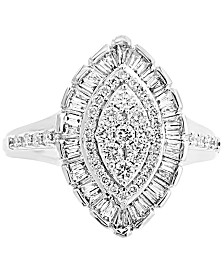 EFFY® Diamond Marquise Cluster Ring (3/4 ct. t.w.) in 14k White Gold