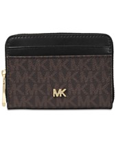b6af10e2acdfc1 MICHAEL Michael Kors Zip Around Bicolor Signature Card Case