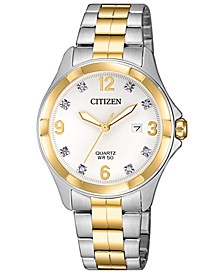 Women's Quartz Two-Tone Stainless Steel Bracelet Watch 32mm