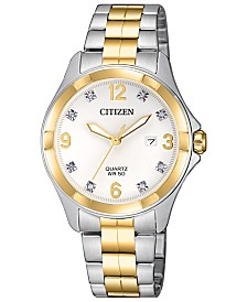 Citizens Women's Quartz Two-Tone Stainless Steel Bracelet Watch 32mm