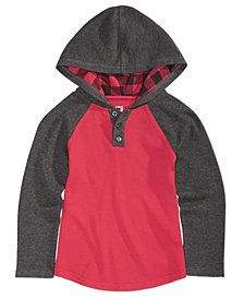 Epic Threads Little Boys Checkered Hoodie, Created for Macy's