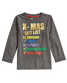 Epic Threads Little Boys X-Mas List Shirt, Created for Macy's